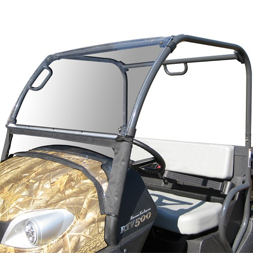 Acrylic Windshield with Fabric Lower Panel for the Kubota RTV400 & RTV500 - DISCONTINUED BY MANUFACTURER