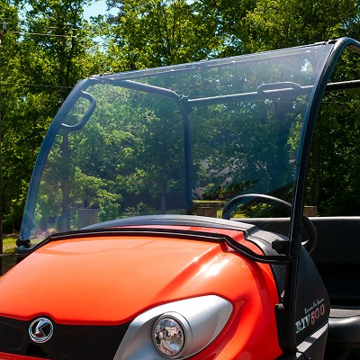 Pivoting UV Resistant Polycarbonate Windshield for Kubota RTV400 & RTV500
