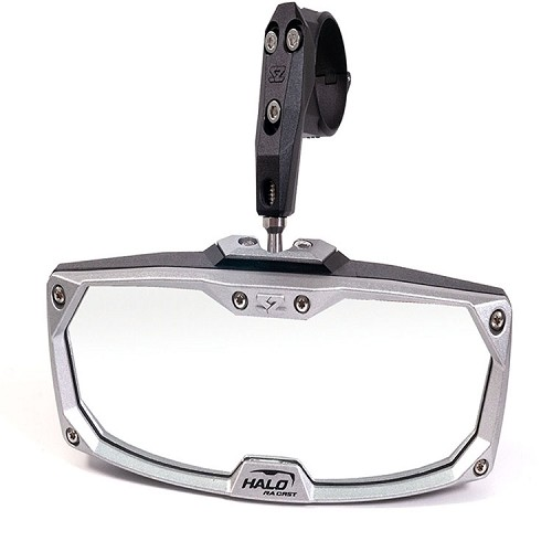 Halo-RA Cast Rearview Mirror With Cast Aluminum Bezel 2.00""